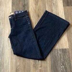 PAIGE Hillhurst Wide Leg Denim Blue Jeans Size 26